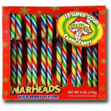 Warheads Candy Canes 12pk Wild Berry Flavour